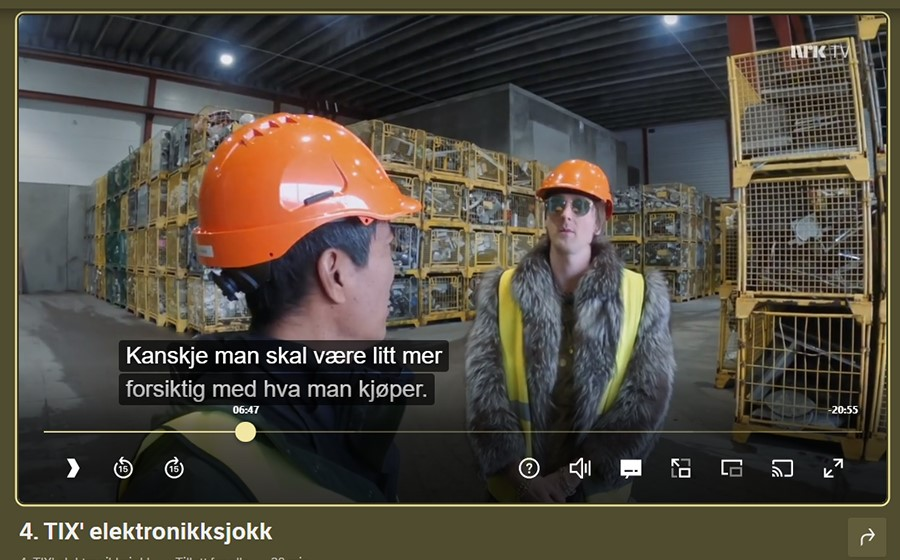 Norsk-Gjenvinning_faksimile NRKs dokumentar Sløsesjokket